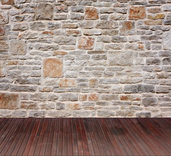 1217 Stone Wall & Wood Floor