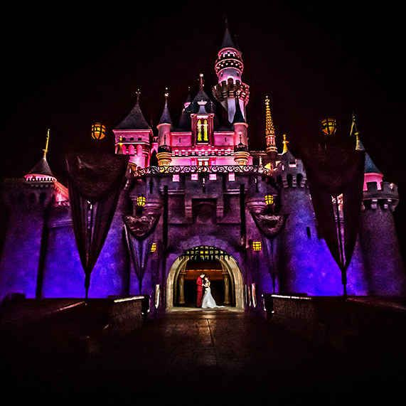 The Sleeping Beauty's Castle Forecourt at Disneyland   My dream wedding