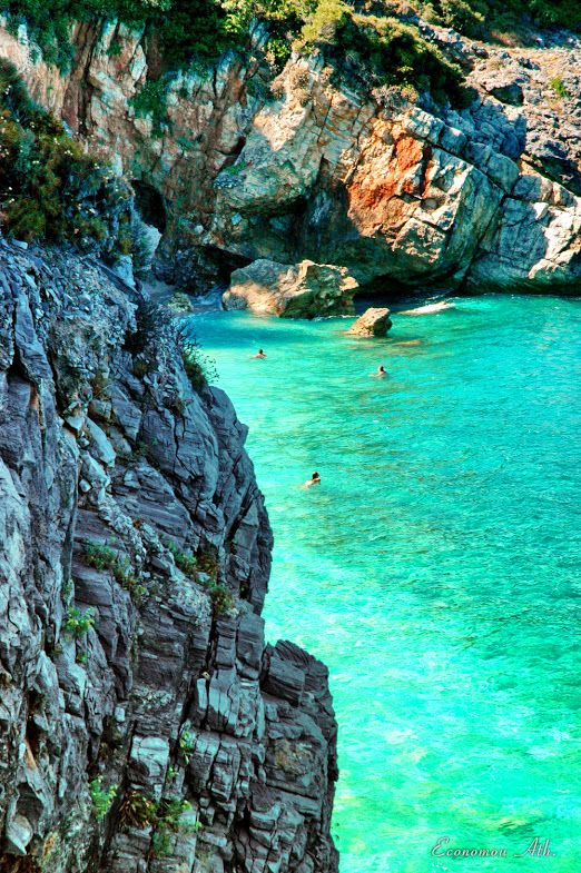 Mylopotamos, Pelion, Greece. I swim here in the morning,