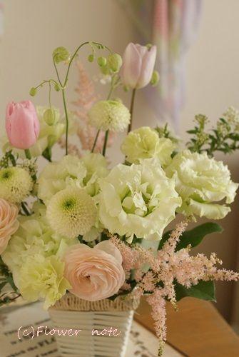 【今日の贈花】四十九日のお悔み花|Flower note の 花日記 (横浜・上大岡 アレンジメント教室)