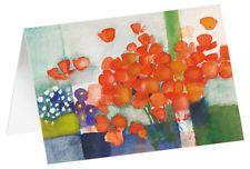 Blütentraube orange - Kunst-Faltkarten ohne Text (5 Stück) (Andreas Felger)