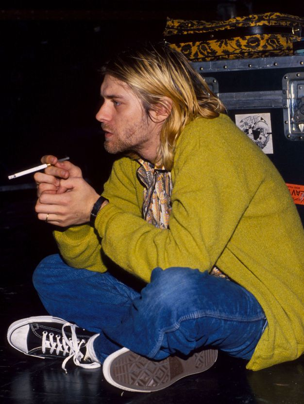 Kurt Cobain, of Nirvana, the poster-boy of the anti-establishment Grunge movement in the 1990s, wore Converse.