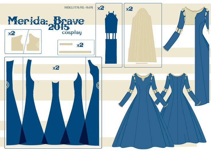 Merida - Pattern Draft by Hollitaima.deviantart.com on @DeviantArt