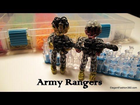 sandylandya.Ejército guardabosques figura de acción / Charm - Cómo - Rainbow Loom