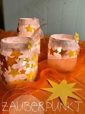 Sternenlaterne, DIY KINDER; Lichterglanz, Sterne, Kindergarten. Licht – Sarah Dragonfly