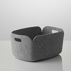 """Keep your magazines and source material in one place until you have time for """"real"""" filing :) muuto restore box light grey"""
