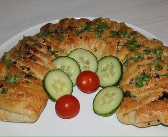 Keema naan - innbakt kjøttdeig Kringle