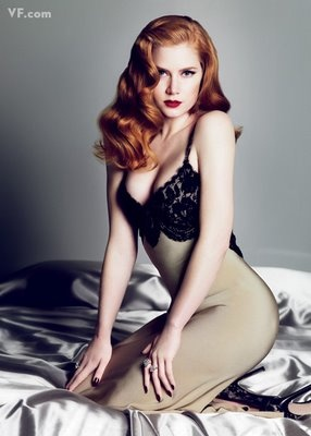 Amy Adams--a lil' bit scandalous, but i think it's a really pretty photo for something like a boudoir shoot