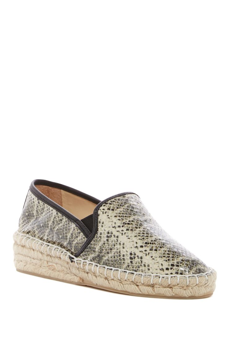 Kimn Snakeskin Embossed Wedge Loafer