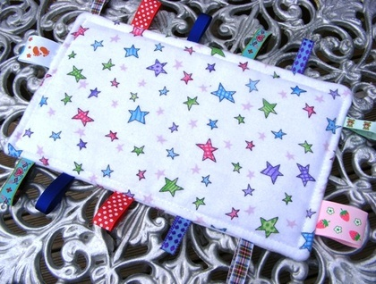Baby & Toddler Tactile Comfort Bankets - White With Stars