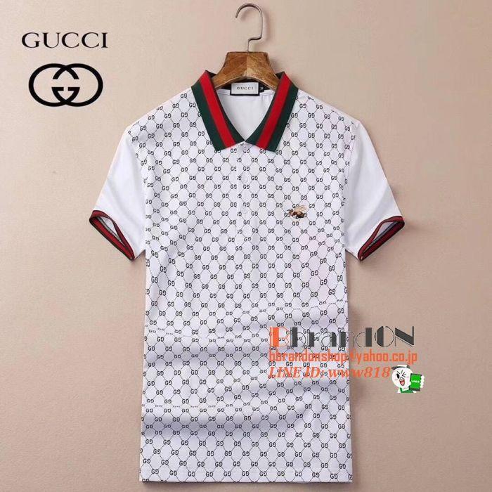 new styles 8de64 7bade Gucciポロシャツコピー2018新作☆ゴルフシャツ感クラシック男性 ...