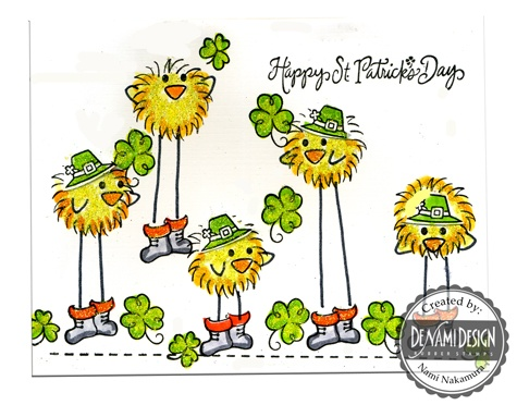 DeNami Irish Leprechaun Chickies card