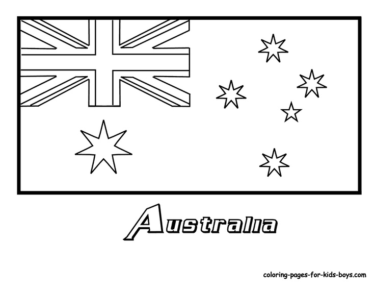 Country flag---coloring pages plus links to see color picture of flag for reference.