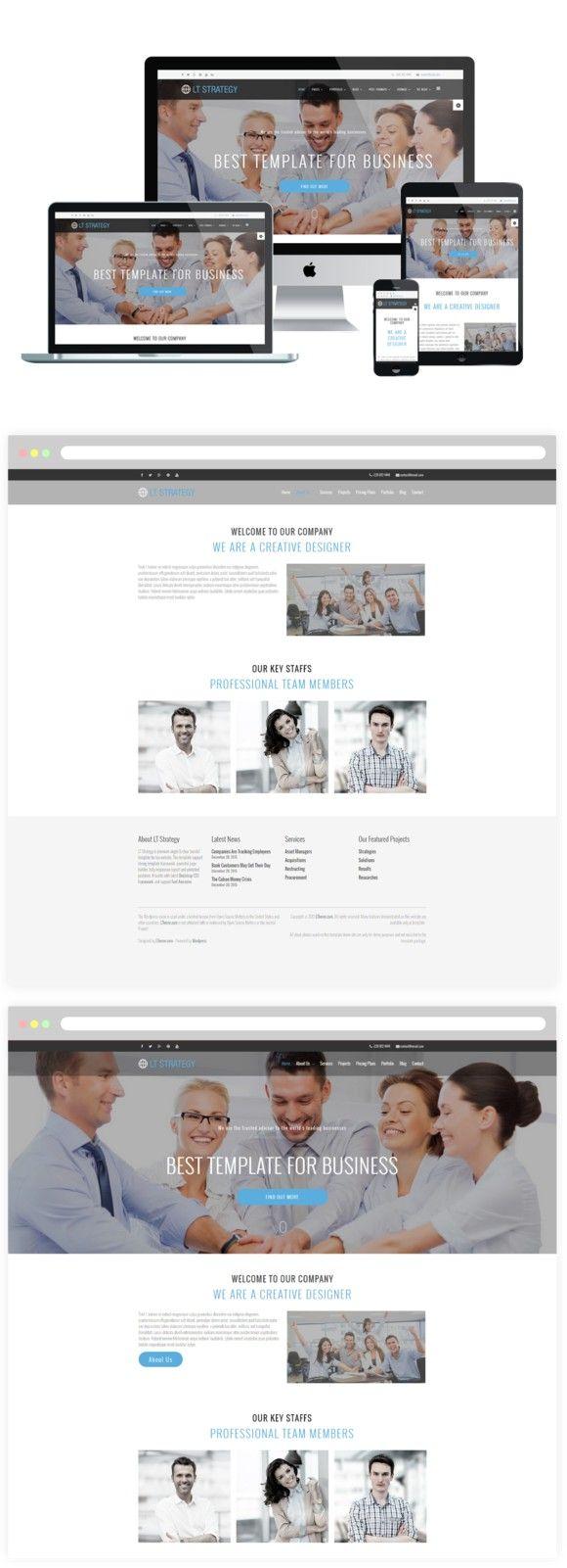 LT Strategy Worpress Theme. WordPress Business Themes. $29.00