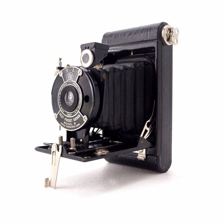 Vintage Kodak Vest Pocket Autographic Folding Camera, Model B with Case (c.1918)