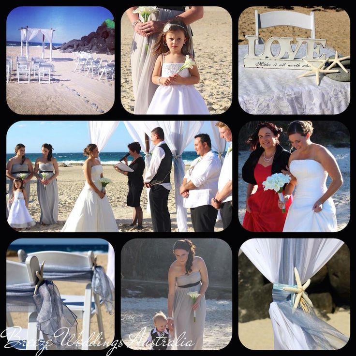 Beach themed wedding ceremony of Tami & Adam 1/08/2015 Froggies Beach Coolangatta #froggiesbeachwedding #froggiesbeach #bambooarbor#bambooarch #beach #wedding #australia #goldcoast #goldcoastwedding#beachweddingaustralia #bambooweddingarch #breezeweddingsaustralia