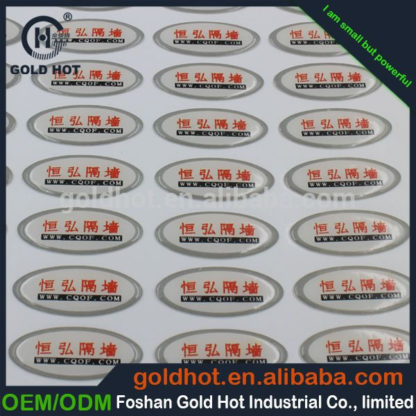 Double Layer Printed Sticker Labelself Adhesive Labelcustom Print Label