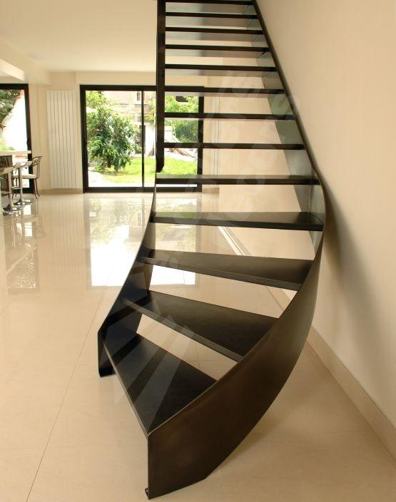 Escalier on Pinterest  Escalier métallique, Rampe escalier