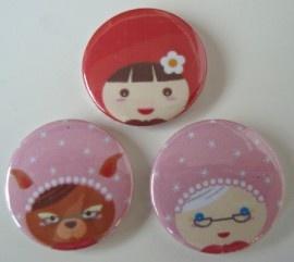 Buttons roodkapje Set 3
