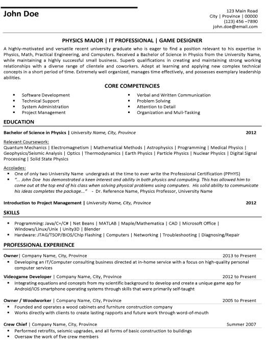 Business Resumes Template 7 Best Resumes Images On Pinterest  Resume Resume Design And
