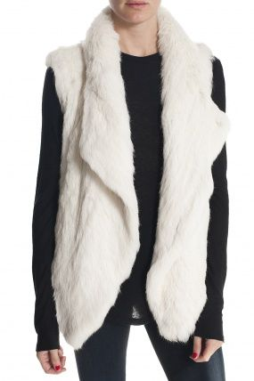 Fur Vest - White. Need to find one like this, but not real fur