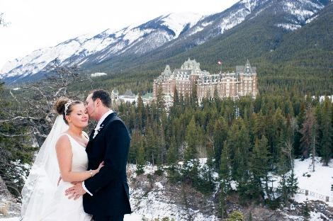 Our guests beautiful wedding at The Fairmont Banff Springs. How amazing is that view!