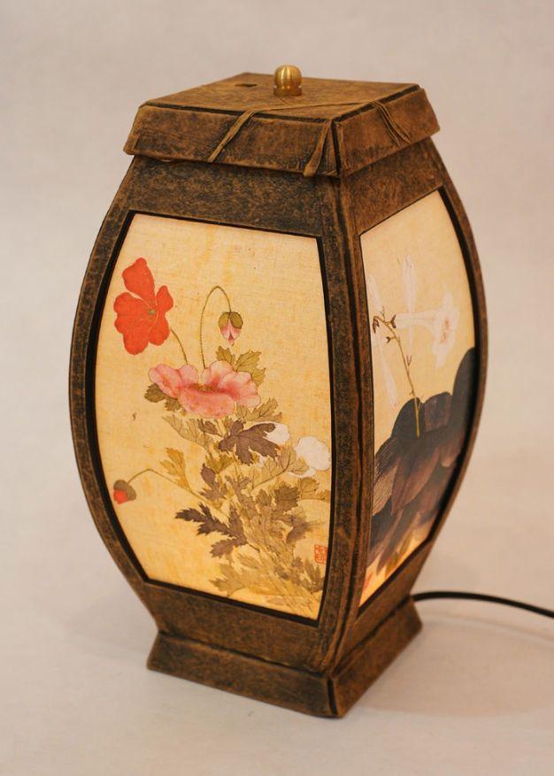 #Korea #Antique #LivingRoom #Interior #Design #Decor #PaperLantern #Stand #Lamp #FolkPainting #DURICRAFT
