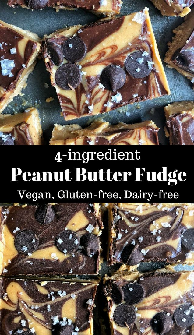 This Healthy Peanut Butter Fudge is made from only four ingredients, satisfies t…