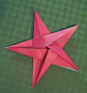 origami star using 1 piece pentagonal paper.