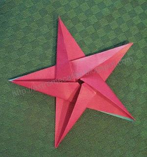 origami star using 1 piece pentagonal paper.