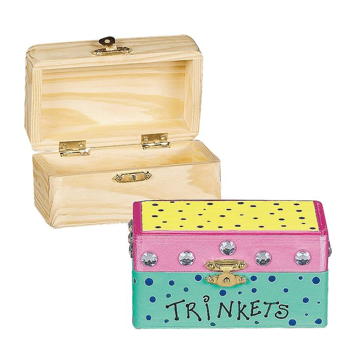 """How To Make A Decorative Wooden Box: """"Wish Box"""" Craft. Paint And Decorate Small Wooden Boxes"""