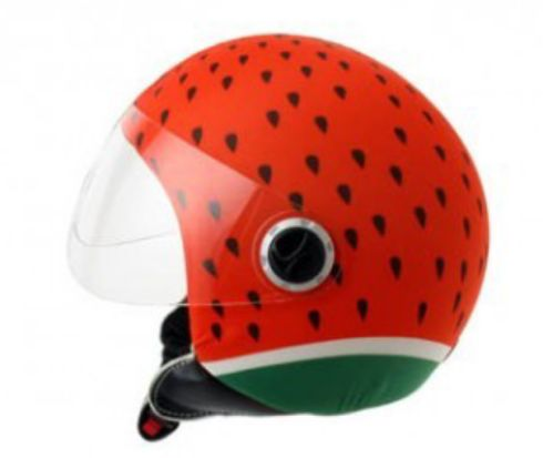 watermelon sandia helmetdress casco