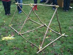 Outdoor Maths: Creating 3D Shapes from Sticks | Creative STAR Learning | I'm a teacher, get me OUTSIDE here!