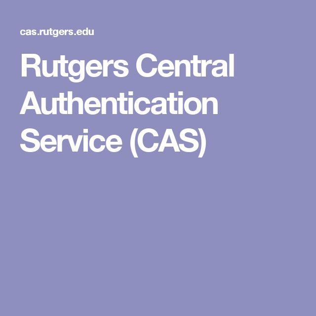 Rutgers  Central  Authentication  Service (CAS)