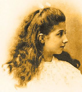 The girl after whom the Mercedes cars are named - Mercedes Jellinek. She was the daughter of Austrian automobile entrepreneur Emil Jellinek who specified an engine designed  by Wilhelm Maybach and Gottlieb Daimler[ for the first 'modern' car.