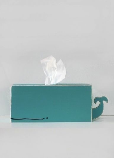 Whale Tissue Box as seen on Etsy via shopsparklypony (created my own version of this. definitely not as awesome as the one in this photo but I love it!)