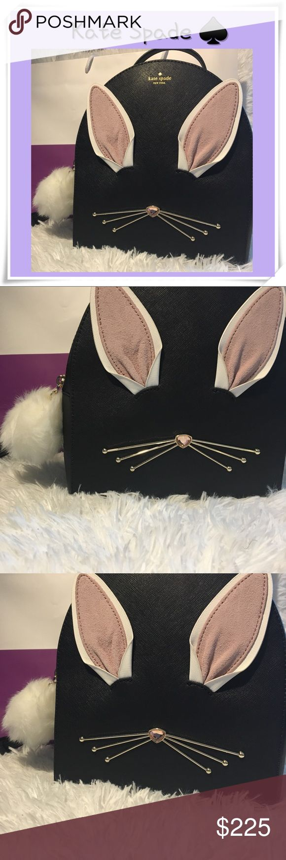 Kate Spade Hop To It Sammi Backpack Absolutely adorable Kate Spade Sammi Backpack - adorable rabbit face with bunny tail zipper. Has lavender inside ears. Comes from a smoke-free home. Please see my other items. Bundle & save! kate spade Bags Backpacks