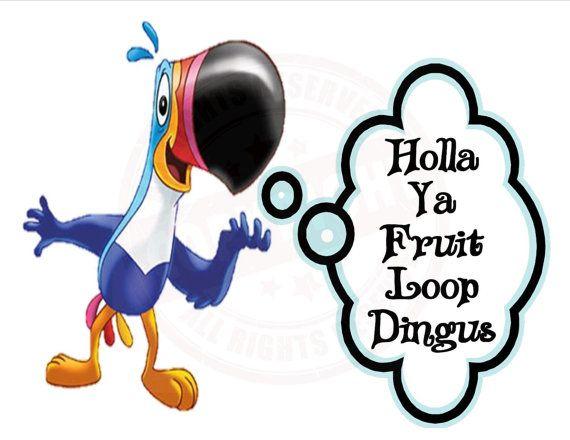 Holla Ya Fruit Loop Dingus Zach/ Derrick Big Brother by QuirkMurk, $15.99  #bb16 bb16 big brother 16 funny sayings meme