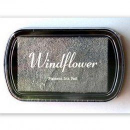 Inkoustový polštářek Windflower / Stříbrný