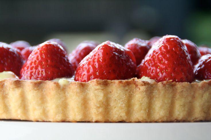 Tarte aux fraises – verdens beste jordbær terte!