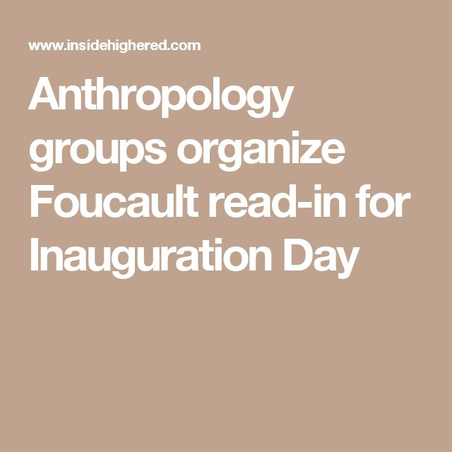 Anthropology groups organize Foucault read-in for Inauguration Day