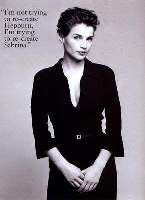 Julia Ormond | Sabrina. One of my favorite movies.