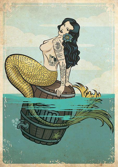 best 25 vintage mermaid tattoo ideas on pinterest vintage mermaid vintage sailor and mermaid. Black Bedroom Furniture Sets. Home Design Ideas