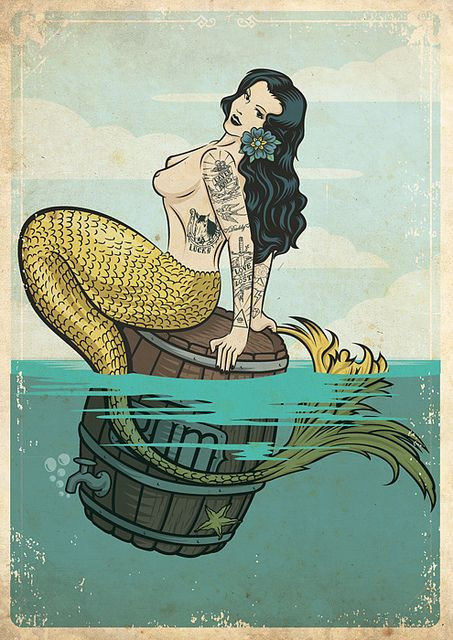 <3 i love it! a mermaid with ink. lucky sailor! <3