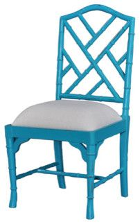 Chinese Chippendale Custom Paint Dining Chair traditional dining chairs