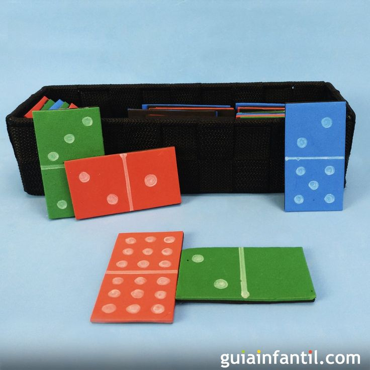 Cómo hacer un dominó casero para los niños.