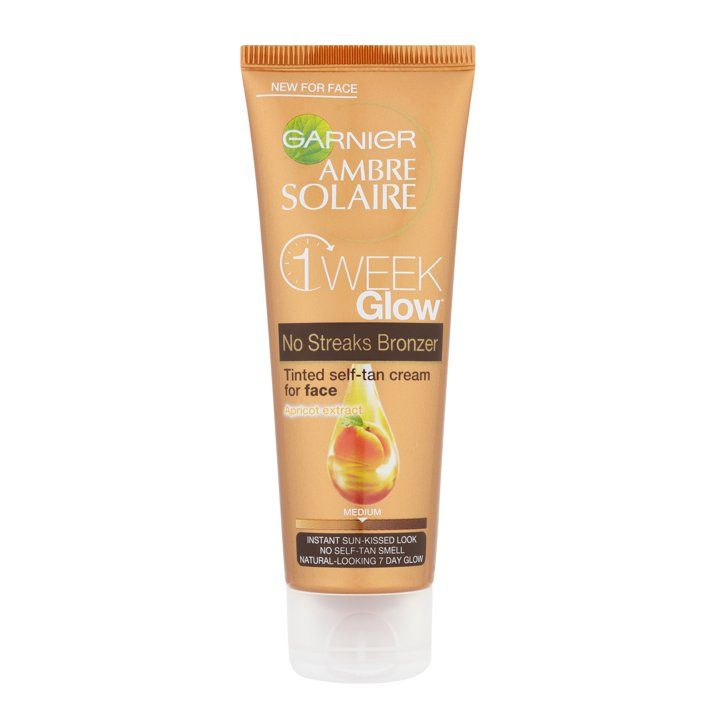 Pin for Later: Get a Golden Glow For Under £15, No Sunshine Required Garnier Ambre Solaire One Week Glow Self-Tan Cream for Face Medium Garnier Ambre Solaire One Week Glow Self-Tan Cream for Face Medium (£10)