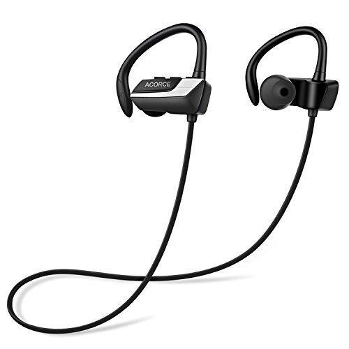 Bluetooth Kopfhörer, In Ear Kopfhörer, ACORCE Bluetooth 4.1 Kabellos Sport Kopfhörer Ohrhörer Wireless Headphones Negative Nosie Cancelling IPX 5 Wasserschutz mit Mikrofon für iPhone und Android