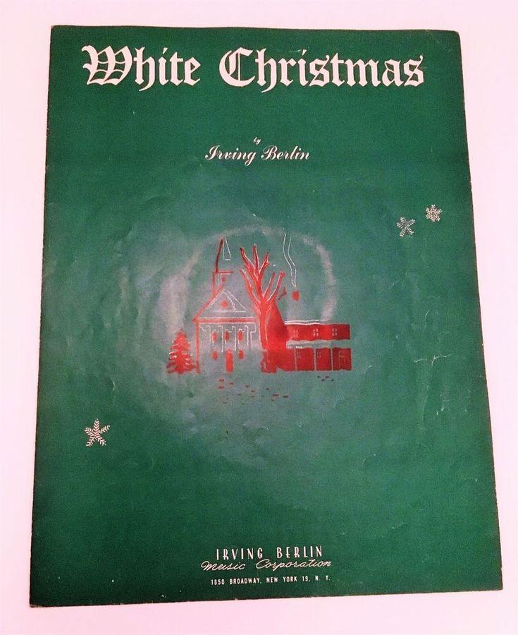 vintage holiday sheet music white christmas irving berlin
