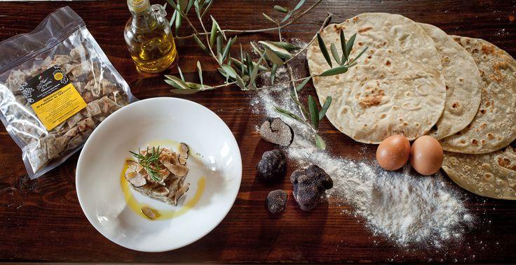 #gourmet al #tartufo #maltagliati di #piadina #truffle #handmade #extravirginoliveoil
